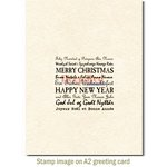 Deep Red Stamps - Cling Mounted Rubber Stamp - International Holiday Wishes
