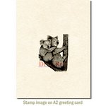 Deep Red Stamps - Cling Mounted Rubber Stamp - Koala with Baby
