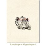 Deep Red Stamps - Cling Mounted Rubber Stamp - Leopard