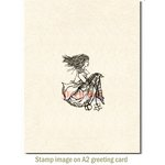 Deep Red Stamps - Cling Mounted Rubber Stamp - Emo Girl