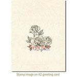 Deep Red Stamps - Cling Mounted Rubber Stamp - Carnation Blooms
