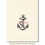 Deep Red Stamps - Cling Mounted Rubber Stamp - Anchor