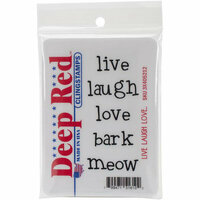 Deep Red Stamps - Cling Mounted Rubber Stamp - Live Laugh Love