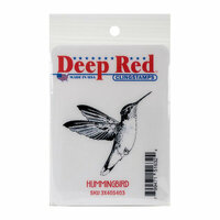 Deep Red Stamps - Cling Mounted Rubber Stamp - Hummingbird