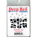 Deep Red Stamps - Cling Mounted Rubber Stamp - Heartfelt Hug