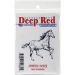 Deep Red Stamps - Cling Mounted Rubber Stamp - Spirited Horse