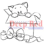 Deep Red Stamps - Cling Mounted Rubber Stamp - Surprise Gift