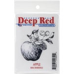Deep Red Stamps - Cling Mounted Rubber Stamp - Apple
