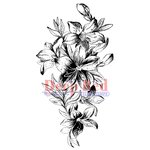Deep Red Stamps - Cling Mounted Rubber Stamp - Lily Cascade