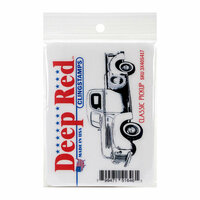 Deep Red Stamps - Cling Mounted Rubber Stamp - Classic Pickup Truck