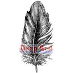 Deep Red Stamps - Cling Mounted Rubber Stamp - Feather