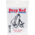 Deep Red Stamps - Cling Mounted Rubber Stamp - Ballet Slippers