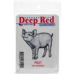 Deep Red Stamps - Cling Mounted Rubber Stamp - Piglet