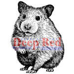 Deep Red Stamps - Cling Mounted Rubber Stamp - Hamster