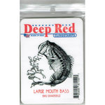 Deep Red Stamps - Cling Mounted Rubber Stamp - Large Mouth Bass