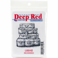 Deep Red Stamps - Cling Mounted Rubber Stamp - Luggage