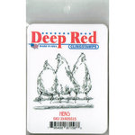 Deep Red Stamps - Cling Mounted Rubber Stamp - Hens