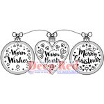 Deep Red Stamps - Christmas - Cling Mounted Rubber Stamp - Warm Hearts