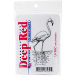 Deep Red Stamps - Cling Mounted Rubber Stamp - Flamingo