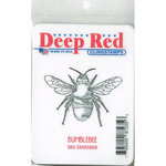 Deep Red Stamps - Cling Mounted Rubber Stamp - Bumblebee