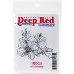 Deep Red Stamps - Cling Mounted Rubber Stamp - Hibiscus