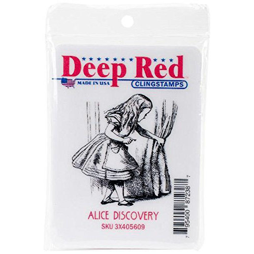 Deep Red Stamps - Cling Mounted Rubber Stamp - Alice Discovery