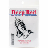 Deep Red Stamps - Cling Mounted Rubber Stamp - Praying Hands