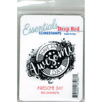 Deep Red Stamps - Cling Mounted Rubber Stamp - Awesome Day Essentials