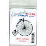 Deep Red Stamps - Cling Mounted Rubber Stamp - Penny Farthing Essentials
