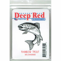 Deep Red Stamps - Cling Mounted Rubber Stamp - Rainbow Trout