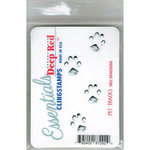 Deep Red Stamps - Cling Mounted Rubber Stamp - Pet Tracks Essentials