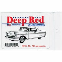 Deep Red Stamps - Cling Mounted Rubber Stamp - Chevy Bel Air