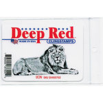 Deep Red Stamps - Cling Mounted Rubber Stamp - Lion