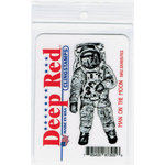 Deep Red Stamps - Cling Mounted Rubber Stamp - Man on the Moon