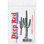 Deep Red Stamps - Cling Mounted Rubber Stamp - Saguaro Cactus