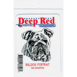 Deep Red Stamps - Cling Mounted Rubber Stamp - Bulldog Portrait