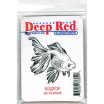 Deep Red Stamps - Cling Mounted Rubber Stamp - Goldfish