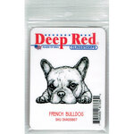 Deep Red Stamps - Cling Mounted Rubber Stamp - French Bulldog