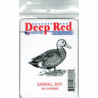 Deep Red Stamps - Cling Mounted Rubber Stamp - Gadwall Duck