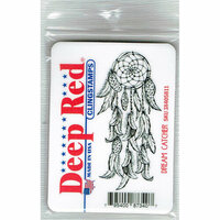 Deep Red Stamps - Cling Mounted Rubber Stamp - Dream Catcher