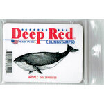 Deep Red Stamps - Cling Mounted Rubber Stamp - Whale