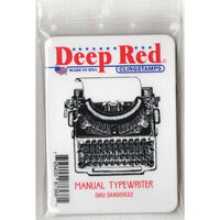 Deep Red Stamps - Cling Mounted Rubber Stamp - Manual Typewriter