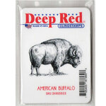 Deep Red Stamps - Cling Mounted Rubber Stamp - American Buffalo