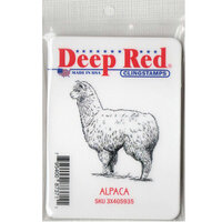 Deep Red Stamps - Cling Mounted Rubber Stamp - Alpaca