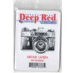 Deep Red Stamps - Cling Mounted Rubber Stamp - Vintage Camera