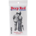 Deep Red Stamps - Cling Mounted Rubber Stamp - Romantic Stroll