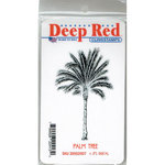 Deep Red Stamps - Cling Mounted Rubber Stamp - Palm Tree