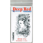 Deep Red Stamps - Cling Mounted Rubber Stamp - Vintage Style