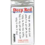 Deep Red Stamps - Cling Mounted Rubber Stamp - Fishing Lesson