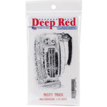 Deep Red Stamps - Cling Mounted Rubber Stamp - Rusty Truck